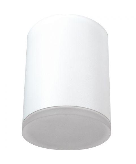 Barrel taklampe, dimbar 9W LED 3000K 600lm, høyde 13 cm, Hvit (RAL9003)