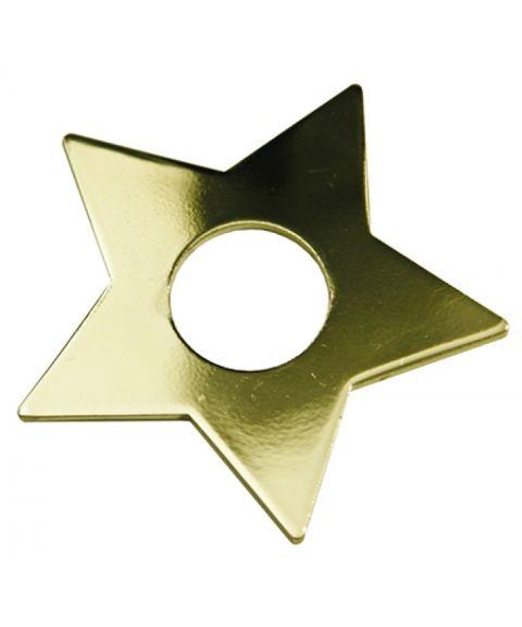 Mansjett stjerne messingfarget, pakke med 7 stk