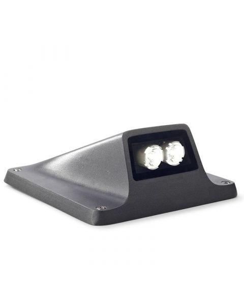 Rexel lyskaster, 2W LED, Antrasitt