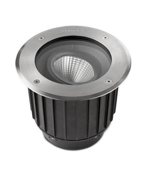Gea nedfelt spot i syrefast stål, tiltbar 15°, 9W LED