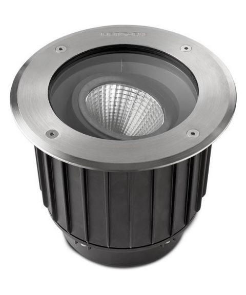 Gea nedfelt med 15º tilt, diameter 18,5 cm, inox aisi 316, 16W LED