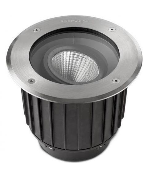 Gea nedfelt med 15º tilt, diameter 22,5 cm, inox aisi 316, 23W LED