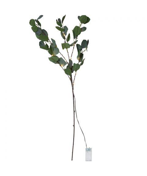 Eucalyptus dekorasjonskvist 90 cm LED (x15), for batteri (2xAA), med timer