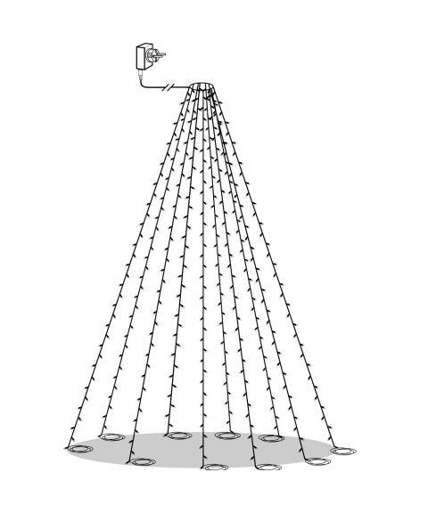 Serie LED (x360) flaggstangbelysning, Golden