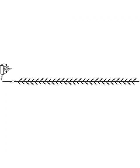 Serie LED (x1200) slynge, 2,4 meter, crab Crispy Ice 3000K, Sort kabel