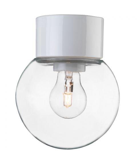 Classic Glob 150 taklampe IP54 E27, Klart glass