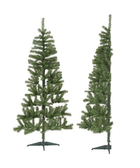 Halve juletre 180 cm, passer inntil vegg