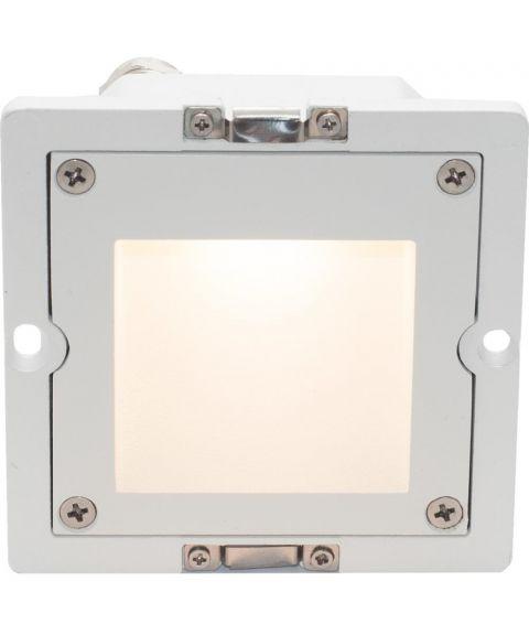 STP 100 base, innfelt vegglampe, 2W LED (u/front)