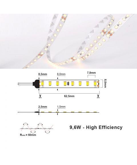LED Strip 24V IP20 2700K 9,6W/m, 5 meter pakke