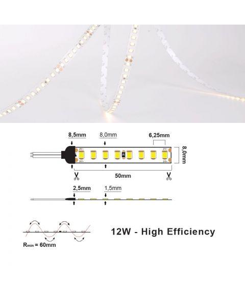 LED strip 24V IP20 12W/m - 3000K (2m)