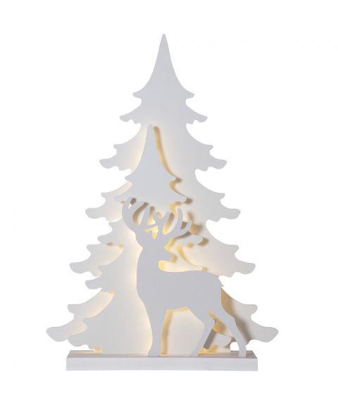 Grandy lazercut reinsdyr, høyde 70 cm, Hvit
