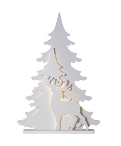Grandy lazercut reinsdyr, høyde 110 cm, Hvit