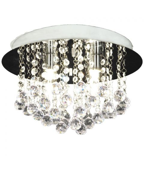 Madelene taklampe, diameter 35 cm, Krom