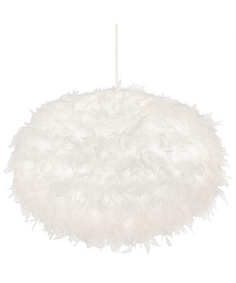 Dun takpendel, diameter 55 cm, Hvit