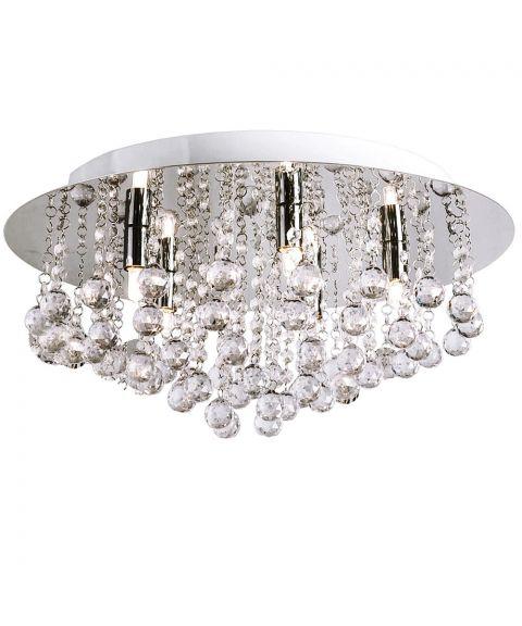 Madelene taklampe, diameter 50 cm, Krom