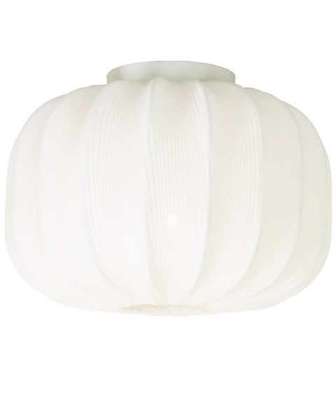 Madame taklampe, diameter 33 cm, Hvit