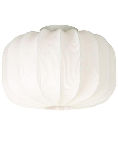 Madame taklampe, diameter 38 cm, Hvit