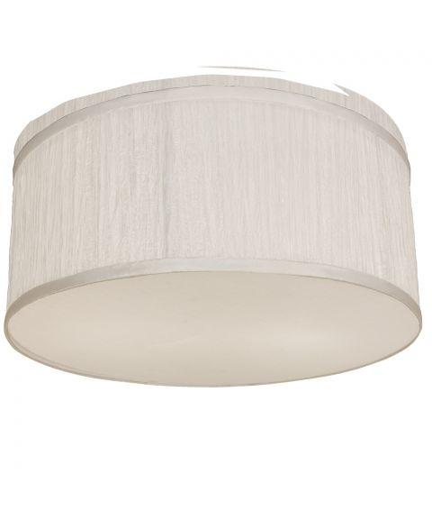 Bendir taklampe med rysjer, diameter 38 cm, Hvit