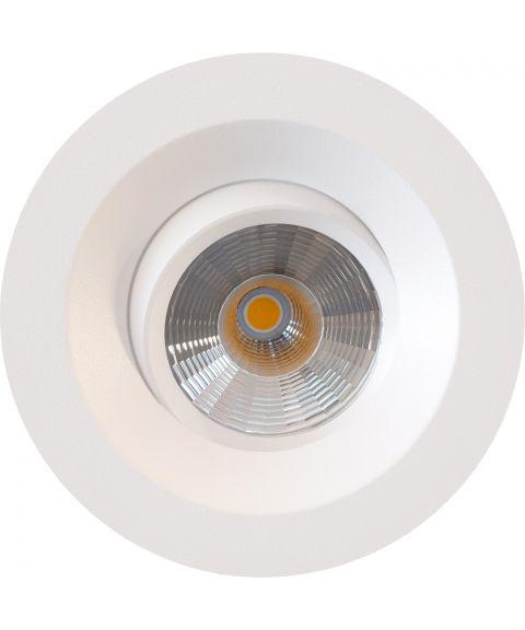 FR95 downlight med tilt (Isosafe), 6W LED, 2700K, inkl dimbar driver, IP44
