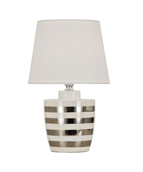 Tango bordlampe, høyde 39 cm, Hvit / Sølv