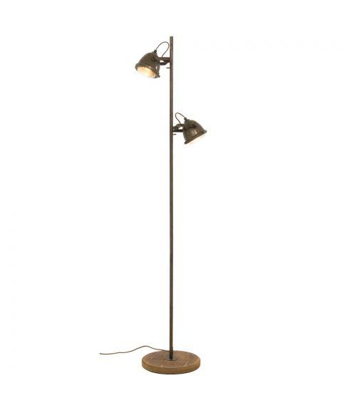 Alaska 2 gulvlampe, høyde 155 cm, Jerngrå / Trefot