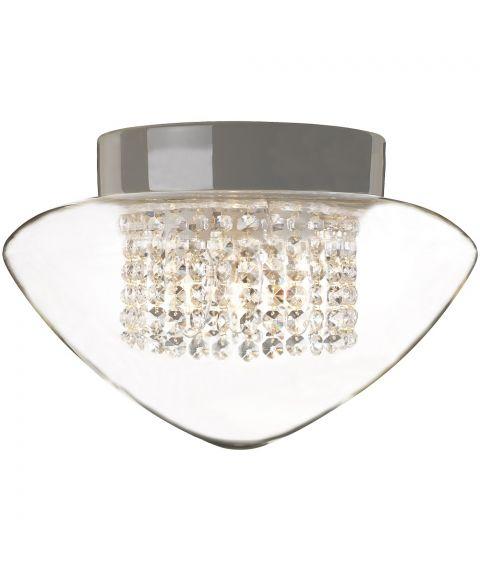 Contrast Edenryd Crystal taklampe IP44, diameter 32 cm, Klart glass
