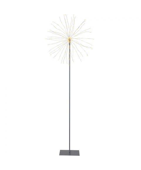 Firework gulvmodell, høyde 130 cm, LED (x200), Sølv, Varmhvitt lys
