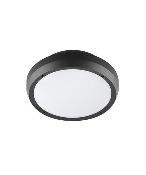 Luno taklampe/vegglampe, 13W LED 3000K 1000lm, Antrasitt, med bevegelsessensor