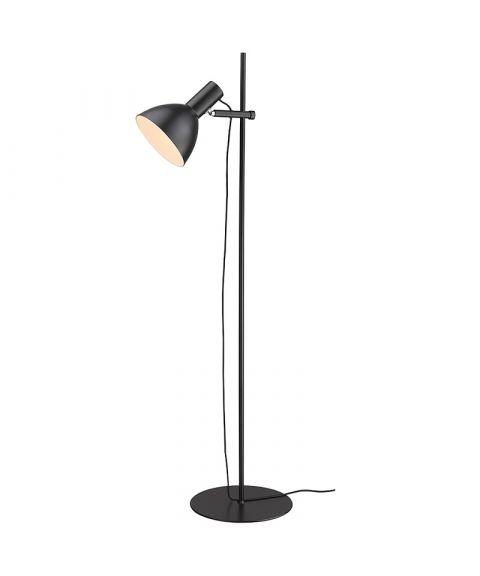 Baltimore gulvlampe, høyde 132 cm, Sort