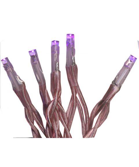 Batteridreven Lysslynge 210 cm, LED (x15), Rosa