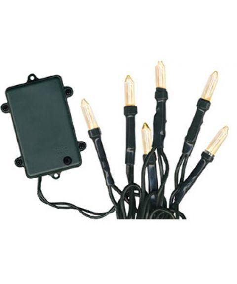 Pisello LED (x96) Lysslynge, 8 funksjoner, for batteri, med timer (restlager)