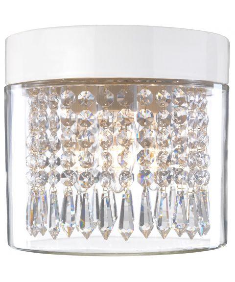Opus 200 Crystal taklampe IP44, diameter 20 cm, Klart glass