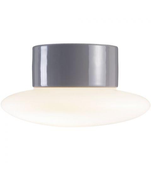 Aton Cairo taklampe IP44, diameter 20 cm, dimbar LED 3000K, Matt opalhvitt glass