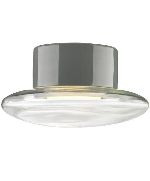 Aton Cairo taklampe IP44, diameter 20 cm, Klart glass