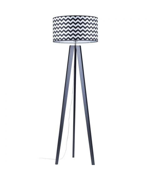 Lotta Zigzag gulvlampe, høyde 160 cm, Sort/Flerfarget tekstil (restlager)