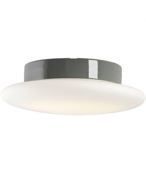 Cairo taklampe IP44, diameter 30 cm, dimbar LED 3000K, Matt opalhvitt glass