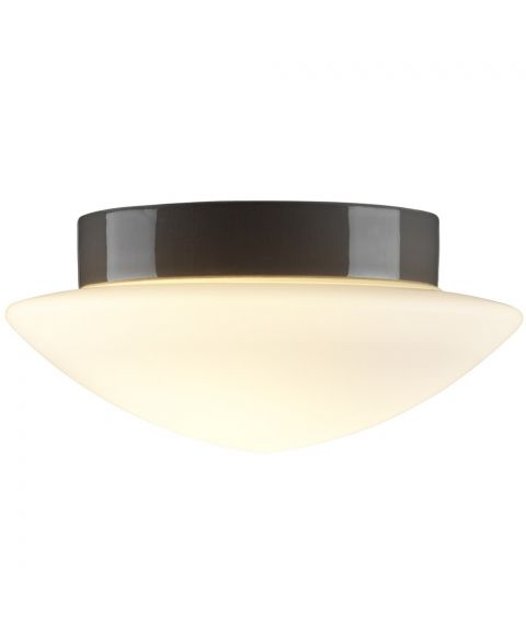 Contrast Solhem tak-/vegglampe IP44, diameter 29 cm, dimbar LED 3000K, Matt opalhvitt glass