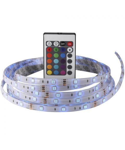 Nimba LED-strip sett med fjernkontroll, RGB 240lm/m, 3 meter (restlager)
