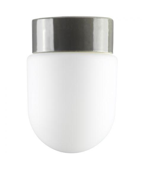 Contrast Fridhem tak-/vegglampe IP54, Matt opalhvitt glass