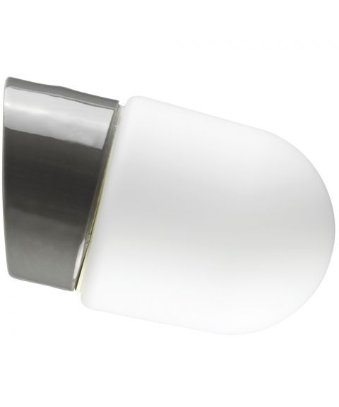 Contrast Fridhem vegglampe IP54, dimbar LED 3000K, Matt opalhvitt glass/Grå