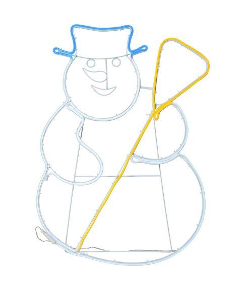 Neoled Siluett Snømann hengende/stående, høyde 78 cm
