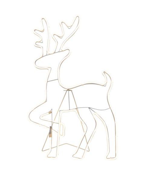 Neoled Silhuett Stående/Vegg Reinsdyr, høyde 84 cm