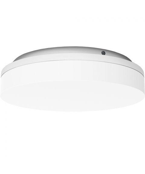 Slice Circle 220 CS/PS/WMS sensor, 10/15W LED 2700/3000K 1000/1500lm, diameter 22 cm, IP54, Hvit