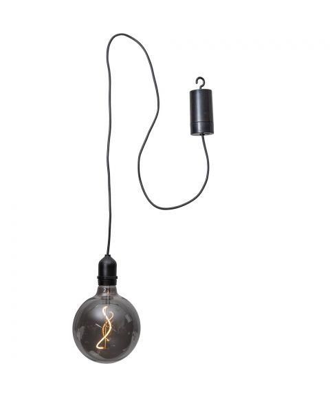Bowl dekorasjon hengende inne/ute for batteri, med timer, Sotet