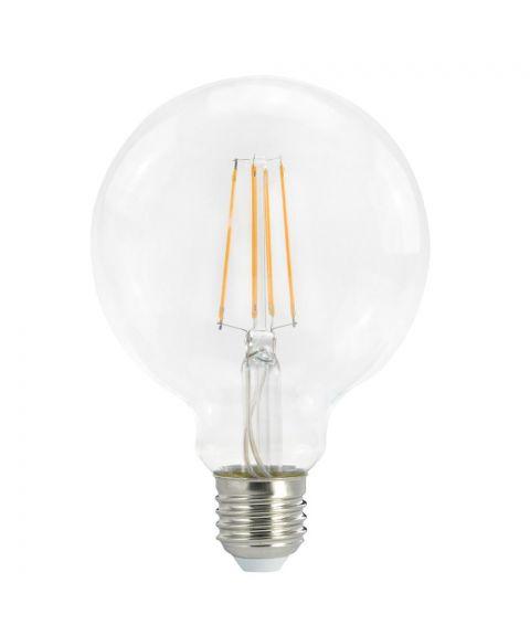 Globe E27 2700K 7W LED 806lm, Med 3 step-dimmer (100/50/7%), Diameter 9,5 cm