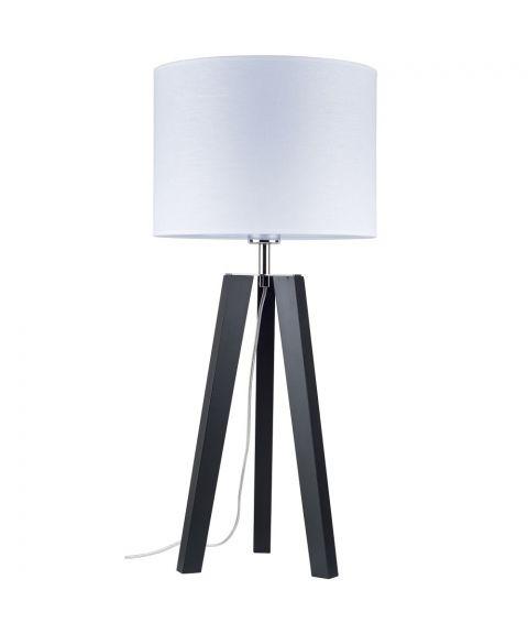 Lotta bordlampe, høyde 65 cm, Sort/Hvit tekstil (restlager)