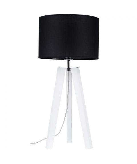 Lotta bordlampe, høyde 65 cm, Hvit/Sort tekstil (restlager)