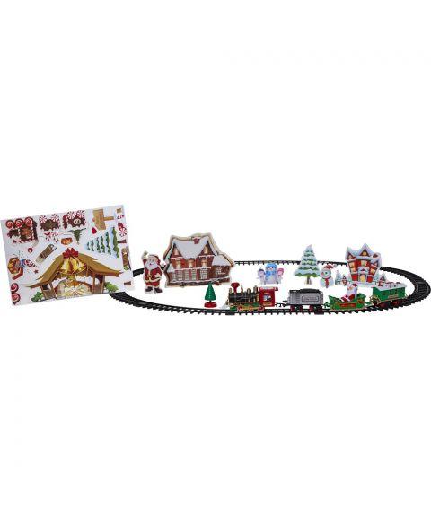 Trainville juletåg med skinner+dekorark