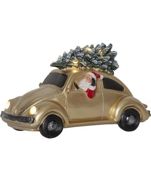 Merryville nisse i bil, Boble gullfarget, batteri/timer