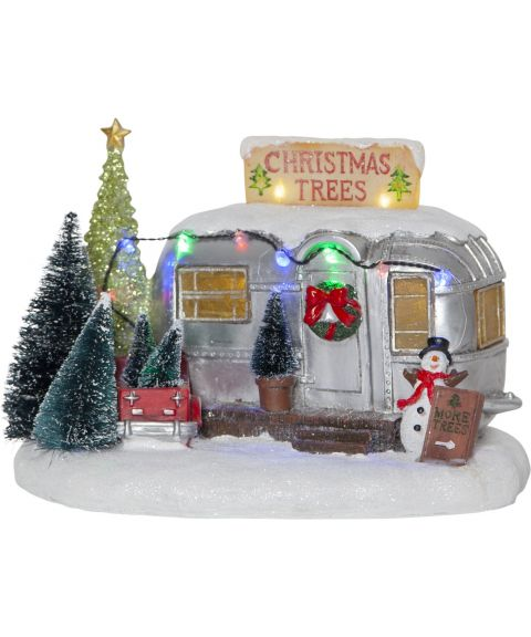 Merryville snømann i campingvogn